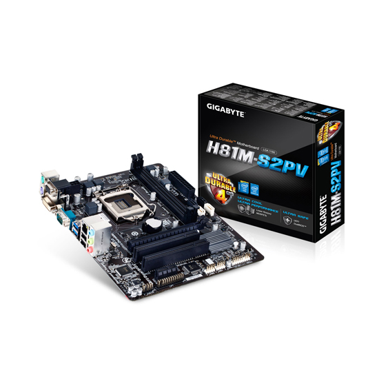 GIGABYTE -H81M-S2PV WPMotherboard